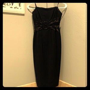 Bebe black strapless pencil dress